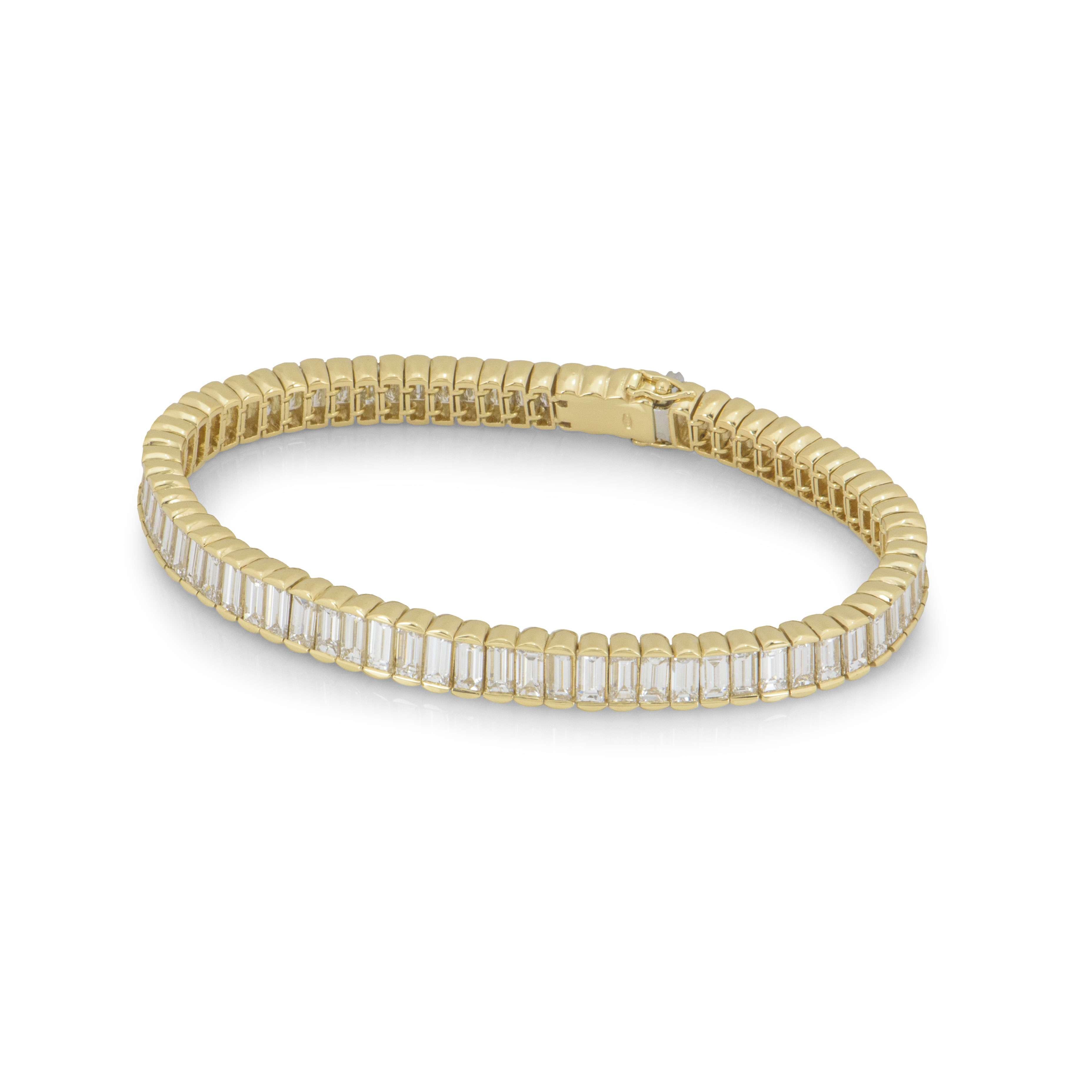 Yellow Gold Diamond Line Bracelet
